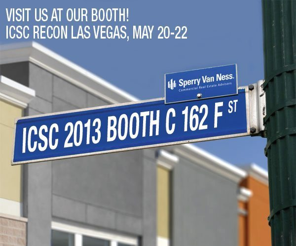 Visit Sperry Van Ness at ICSC REcon Booth C at 162 F Street.